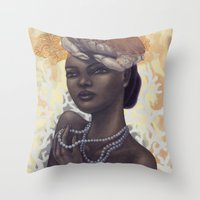 cancer Throw Pillows featuring Cancer by Artist Andrea