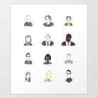 the office Art Prints featuring office by Britt Appleton