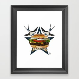 It's Time To Get Grill Framed Art Print