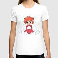 ponyo T-shirts featuring Kokeshi Ponyo by Pendientera