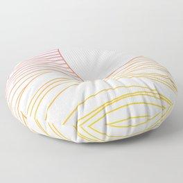 Retro Landscape 04A Floor Pillow
