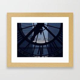 Looking over Paris Framed Art Print