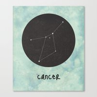cancer Canvas Prints featuring Cancer by snaticky