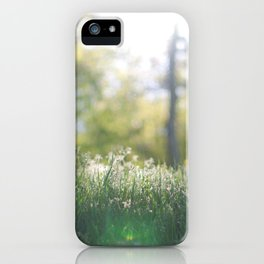 Grass in sunshine iPhone Case