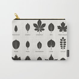 European Tree Leaves Carry-All Pouch