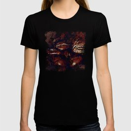 big coffee beans splatter watercolor T-shirt