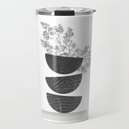 Vibration - Minimalism Mid-Century Modern Forms Travel Mug