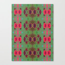 Pink and green marble Canvas Print
