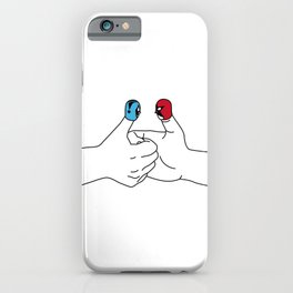 Thumb wrestling iPhone Case