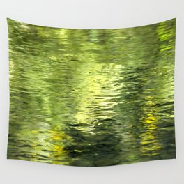 Green Water Abstract Art Wall Tapestry