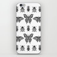 insects iPhone & iPod Skins featuring insects by Textile Candy