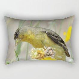 Feasting Finch Rectangular Pillow