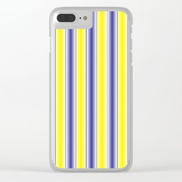 Complementary Series: 1. Purple and Yellow Gradient Clear iPhone Case