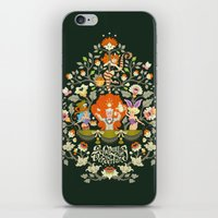 alice in wonderland iPhone & iPod Skins featuring Wonderland by rosekipik