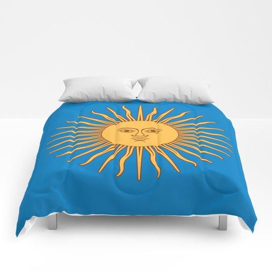 argentina flag sun Comforters