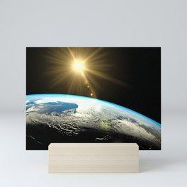 earth lens flare Mini Art Print