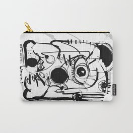 Staring Into Infinity - b&w Carry-All Pouch