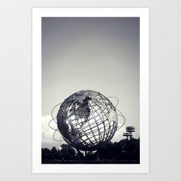 Unisphere at Flushing Meadows Park - New York City, Queens Art Print