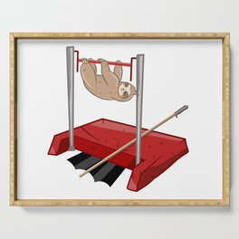Sloth gym class Serving Tray