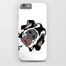 Great Dane In Your Face (harlequin) iPhone Case