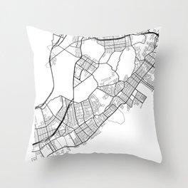 Staten Island New York Street Map Minimal Throw Pillow