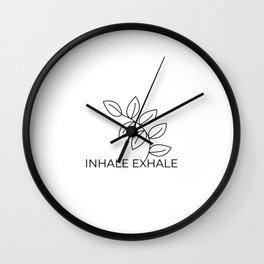 inhale exhaleInhale Exhale Yoga meditation namaste Wall Clock