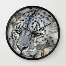 Snow Leopard Resting 778 Wall Clock