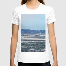 Winter in a coastal village T-shirt
