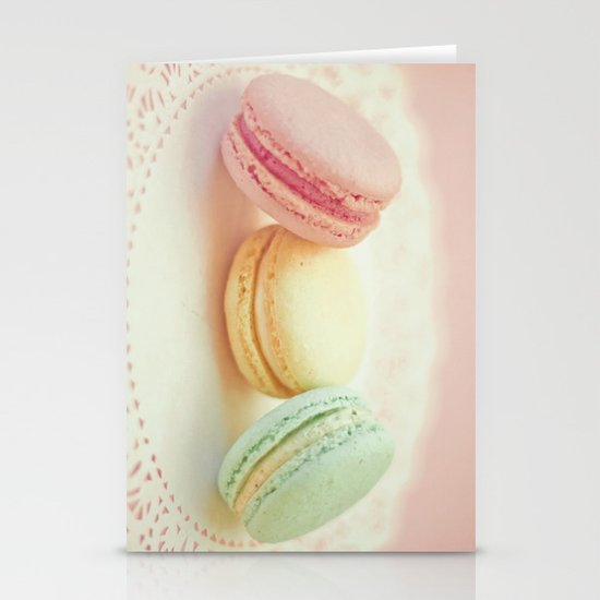 Pastel Macarons Stationery Cards