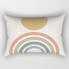 Mid-Century Modern Rainbow Rectangular Pillow