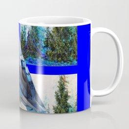 MOUNTAIN BLUE JAY SCENIC ART Coffee Mug