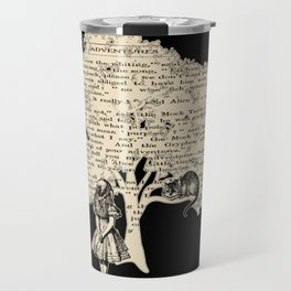 Alice In Wonderland Vintage Book Travel Mug