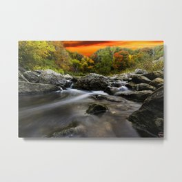In the middle of the River at sunset... Metal Print