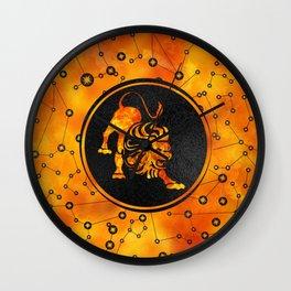 Leo Zodiac Fire element Wall Clock
