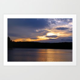 Sunset at Concord's Walden Pond 13 Art Print