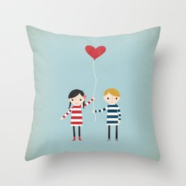 Love is in the Air - Girl Throw Pillow