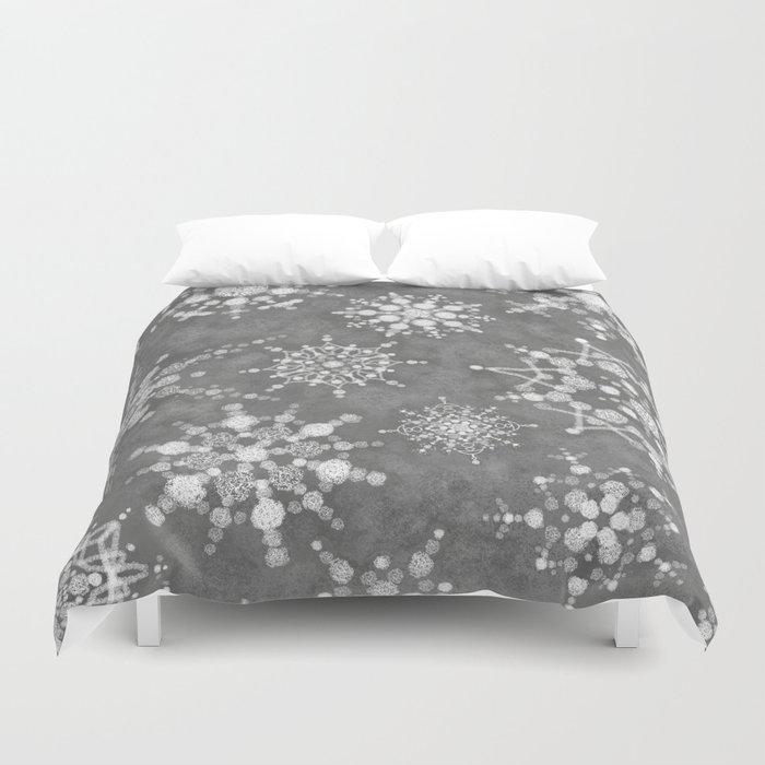 Winter Snowflakes Bettbezug