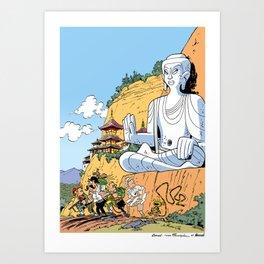 La Vallée du Bouddha Art Print