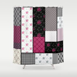 Rustic patchwork 2 Shower Curtain