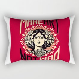Make art not war Rectangular Pillow