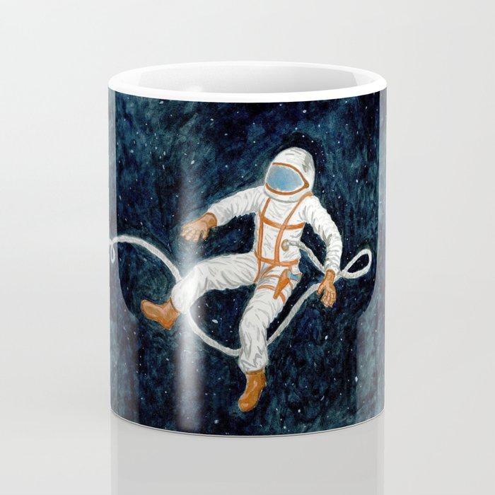 Astronaut Floating Through Space Coffee Mug