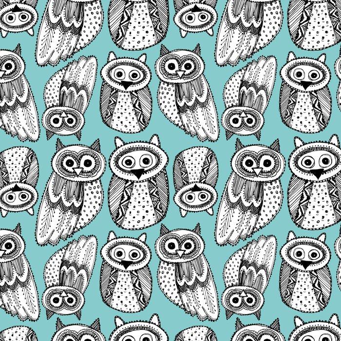 Hand dravn Cute Owl Leggings