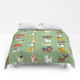 ASIAN DOGS Comforters