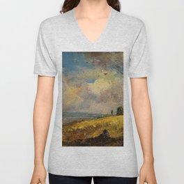 """John Constable """"The Skylark, Dedham"""" Unisex V-Neck"""