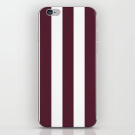 Light chocolate cosmos purple - solid color - white vertical lines pattern iPhone Skin