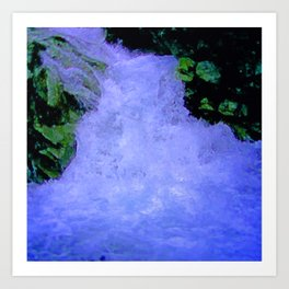 Bubbling Water Art Print