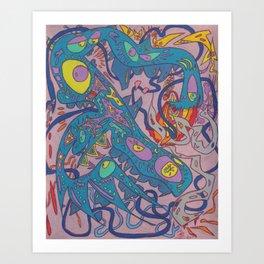 The Challenger Deep Art Print