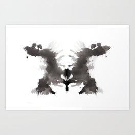 Rorschach test 3 Art Print