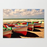 boats Canvas Prints featuring boats by  Agostino Lo Coco