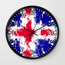 in to the sky, iceland Wall Clock
